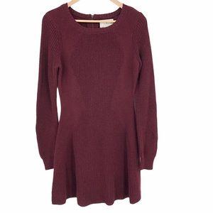 Ruby Moon burgundy long sleeve dress size medium